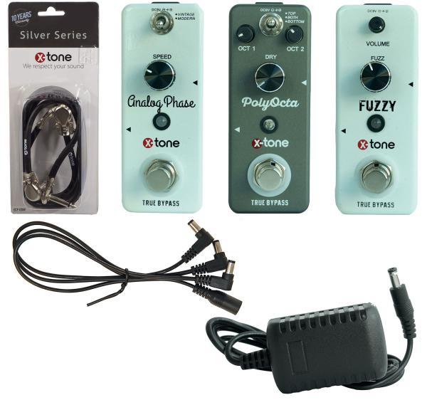 Effect set for guitar & bass X-tone Pack Pedales Psyche/Stoner + Patches & Alimentation
