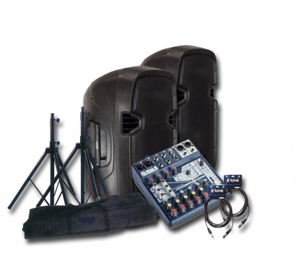 Complete pa system X-tone Bundle SMS-10A Mix8 Notepad