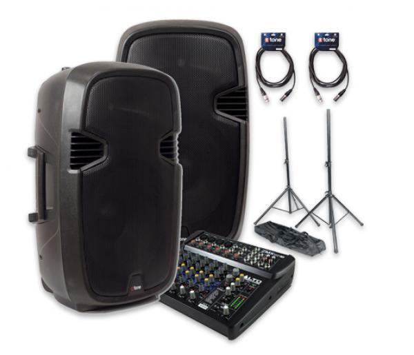 Complete pa system X-tone Bundle SMS15-A Live