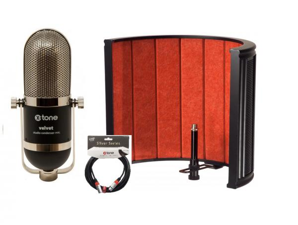 Microphone pack with stand X-tone Velvet X-Screen Pro