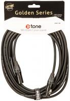 Cable X-tone X3001-10M - XLR(M) / XLR(F) Golden Series