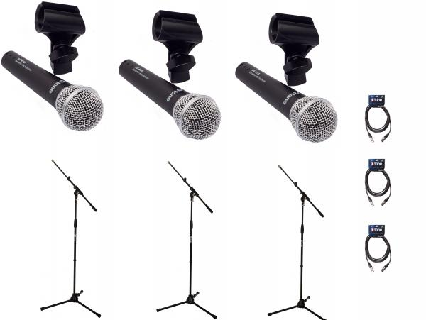 Microphone pack with stand X-tone Bundle 3 Singers