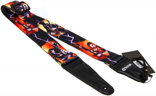 Guitar strap X-tone XG 3105 Nylon Guitar Strap Alien - Black & Red