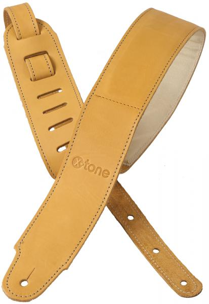 Guitar strap X-tone xg 3154 Plus Leather Guitar Strap - Brownstone Beige