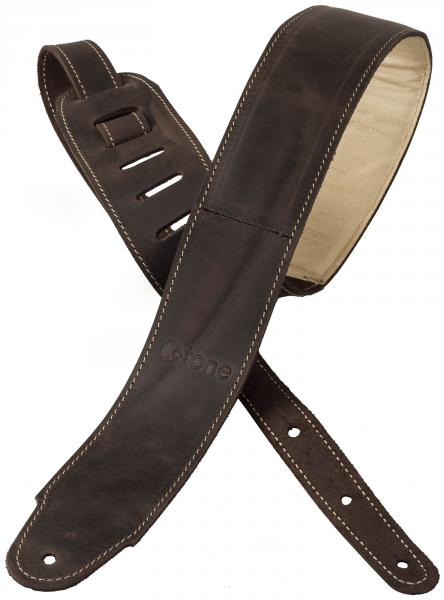 Guitar strap X-tone xg 3156 Classic Plus Leather Guitar Strap - Dark Brown