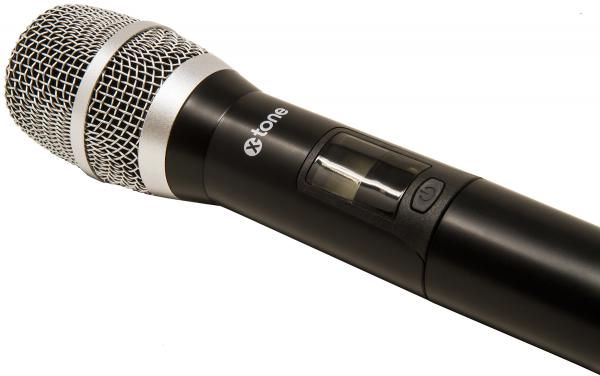 Wireless handheld microphone X-tone XHF100 Systeme HF Main Frequence Fixe