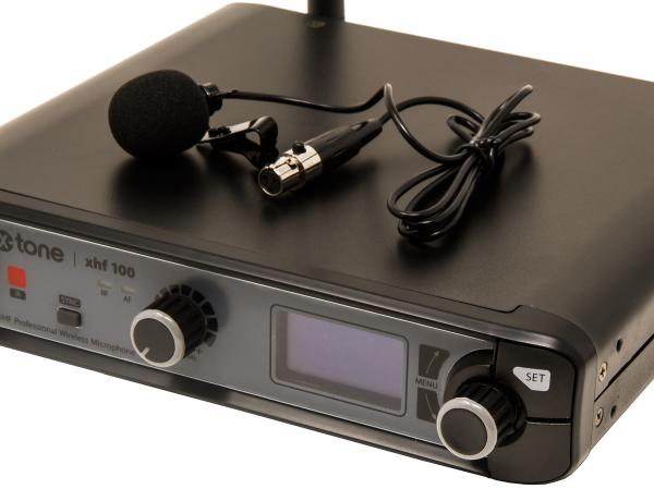 Wireless lavalier microphone X-tone XHF100L Systeme HF Cravate Frequence Fixe