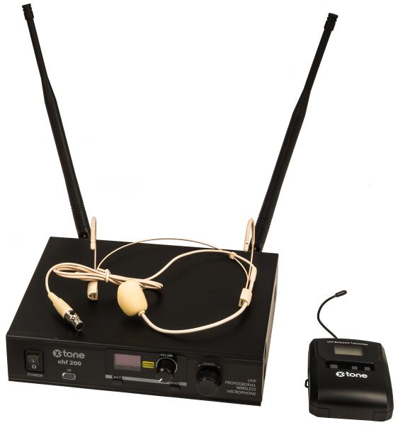 Wireless headworn microphone X-tone XHF200H Systeme HF Serre Tete Multi Frequences