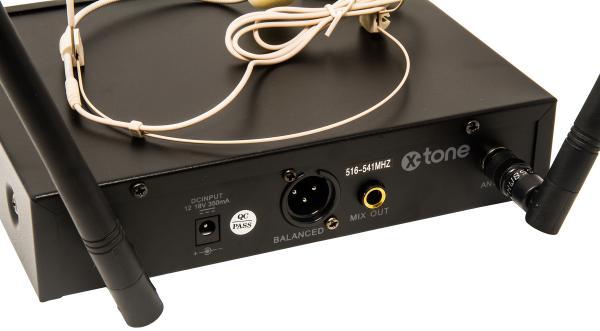 X-tone XHF200H Systeme HF Serre Tete Multi Frequences Wireless headworn microphone