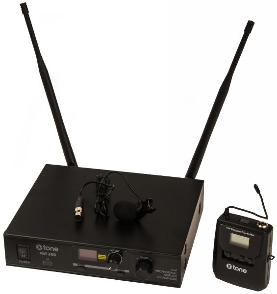 Wireless lavalier microphone X-tone XHF200L Systeme HF Micro Cravate Multi Frequences