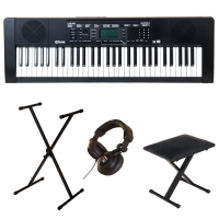 Entertainer keyboard X-tone XK100 + stand xh 6100 + siège xb 6150 Noire + casque PRO580
