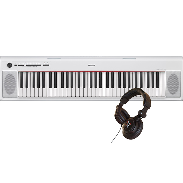 Portable digital piano Yamaha NP-12 white + PRODIPE PRO580 - White