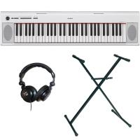 Digital piano set Yamaha NP-12WH + stand + casque - White