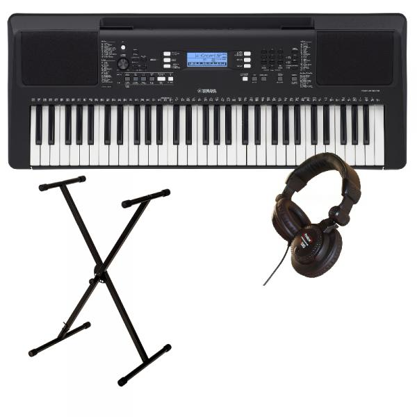 Entertainer keyboard Yamaha PSR E373 + Stand XH 6100 + Casque PRO580