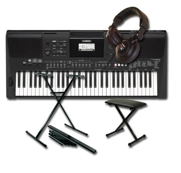 Yamaha Psr E463 Stand Banquette Casque Keyboard Set