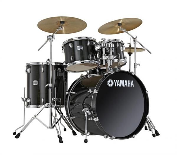 Strage drum-kit Yamaha Stage Custom BIrch Stage 22 - 5 shells - Raven black
