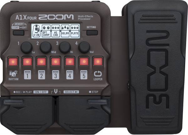 Multieffect for acoustic guitar Zoom A1X FOUR Acoustic Instruments Multi-Effects Processor