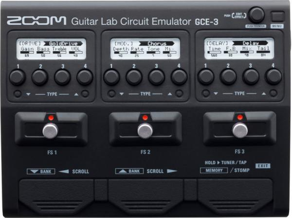 Effects processor  Zoom GCE-3 Interface Audio