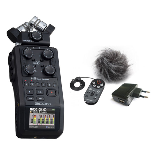 Portable recorder Zoom H6 Black +  APH6